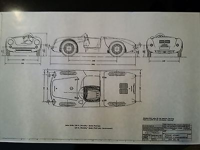 Porsche 550 Spyder * Factory Diagram * Copy of 550.00.116  from Porsche KG