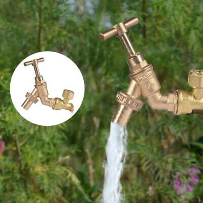 Hot Garden Solid Brass Faucets Water Valve Tap Discharge Valve Two-way Connector