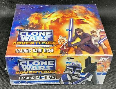 Topps Star Wars Clone Wars Adventures TCG Sealed Booster Box - 24 Packs