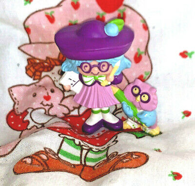 Vintage Strawberry Shortcake Plum Puddin & Pencil Mini 1984 Rare