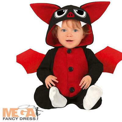Baby Bat Kids Fancy Dress Spooky Halloween Animal Boys Girls Toddler Costume