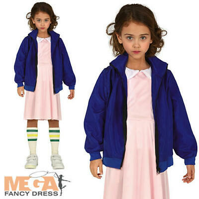 Telepathic Girl Kids Fancy Dress Eleven Strange TV Series 80s Halloween Costume