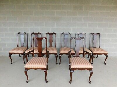 Harden Charleston Collection Cherry Queen Anne  Style Dining Chairs Set of 8