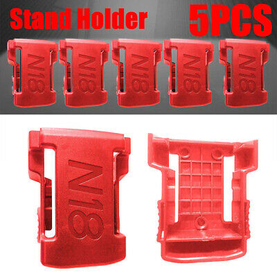 5x-Battery-Mounts-for-MILWAUKEE-M18-18V-Storage-Shelf- Holder-Rack-Stand-Slots