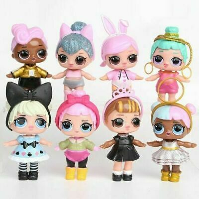 8pcs /Set LOL Surprise Doll Baby Tear Series Ornament for Kids Toy Gift Figure