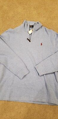"POLO by Ralph Lauren Half Zip Cotton Sweater~ /""Cabo Green/"" ~NWT~"