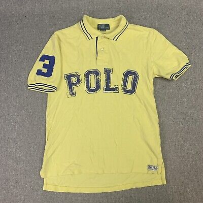 POLO By Ralph Lauren Spell Out Polo Shirt Size Medium (10-12) Boys Short Sleeve