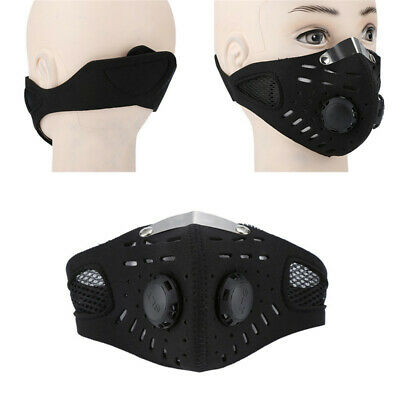 Outdoor Anti Smoke Dust Air Purifying Face Mask Cover Carbon Filter Multi Layer