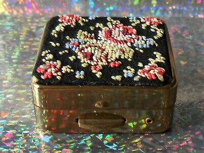 Vintage Ornate Signed Pill Or Snuff Box