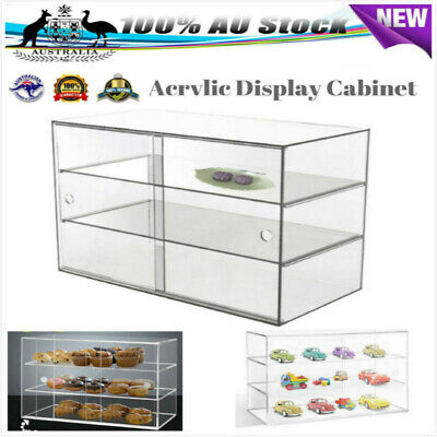 Large 3-Tier Acrylic Cake Display Cabinet Bakery Muffin Cupcake Donut Uh