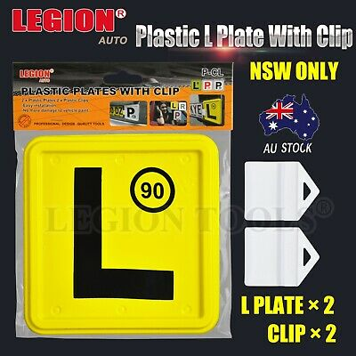 2 pcs L plastic plate with speed limit display for NSW P plate clip holder