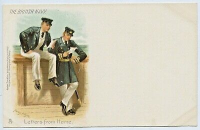 "C1900 Litho Tucks Postcard The British Navy ""Letters From Home"" Harry Payne E93"