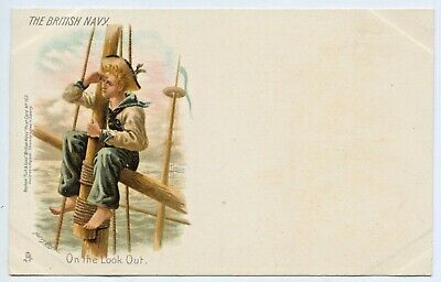 1900 Litho Tucks Postcard The British Navy On The Lookout Signed Harry Payne E95