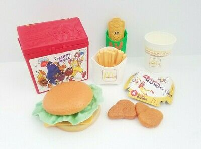 Vintage Fisher Price Fun With Food McDonald's Happy Meal Play Toy Lunch Box 1989