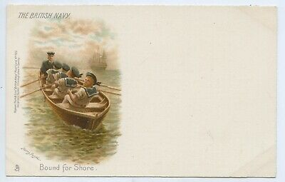 "1900 Litho Tucks Postcard ""The British Navy Bound For Shore"" By Harry Payne E98"