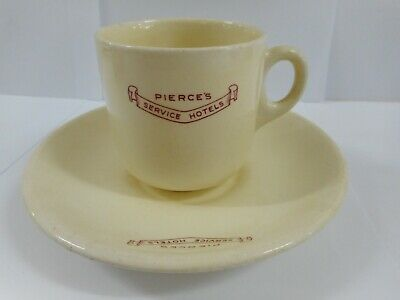 Pierces Service Hotels Cup & Saucer / Sa Hotel Service Ware Marked Steelite
