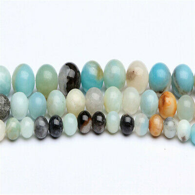 1pcs 3-12mm Natural Amazonite Round Beads Loose Bead 15 inches Diy Gemstone