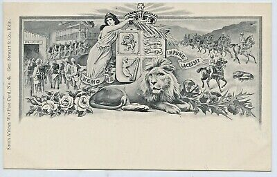 1900 Postcard Boer War No2 South African War George Stewart & Co Edinburgh F1
