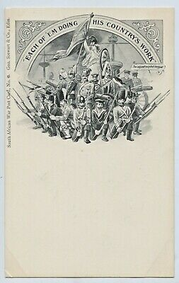 1900 Postcard Boer War No6 South African War George Stewart & Co Edinburgh F2