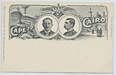 1900 Postcard Boer War No2 Rhodes Kitchener George Stewart & Co Edinburgh F3