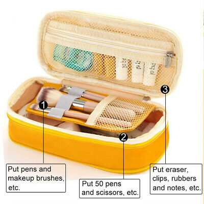 Multifunction Pencil Case Large Capacity Pen Box School Stationery Cosmetic Bag
