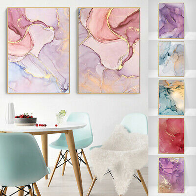 Nordic Marble Texture Canvas Poster Abstract Wall Art Print Modern Home Decor
