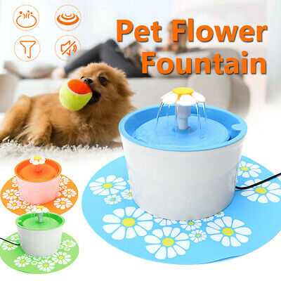 1.6L Automatic Water Fountain Drinking Cat Feeder Pet Bowl Dish Filter Dispenser