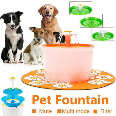 Automatic Water Fountain Drinking Cat Feeder Pet Bowl Dish Filter Dispenser AU