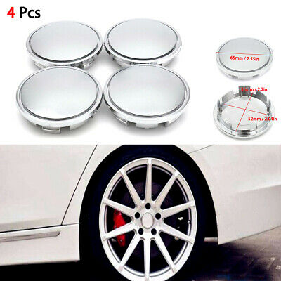 4Pcs/Set Universal Chrome Car Wheel Center Caps Tyre Rim Hub Cap Cove 52mm/56mm