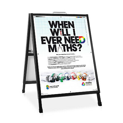Metal Double Sided A-Frame Display Heavy Duty Sign Sidewalk Sandwich Poster Size