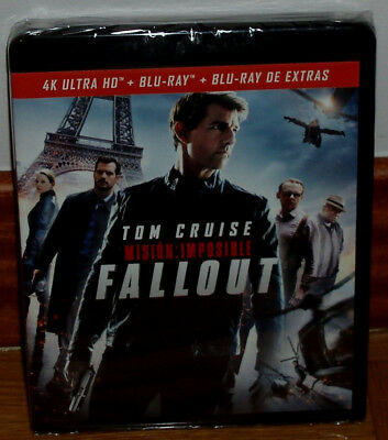 Mission Impossible 6 Fallout 4K Ultra HD + Br Extras Neuf Action (sans Ouvrir)