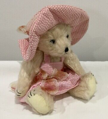 Teddy Bear Anna Belle As New With Tag Bestever Bear Jointed Pretty Pink Outfit