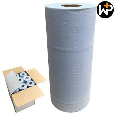 """2 ply 10"""" Blue Hygience Couch Paper Rolls 50m x 25cm - Pack of 18 by Workshop Pl"""