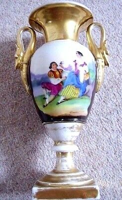 Antique French  Empire Porcelain Vase,Mid 19 century French porcelain vase