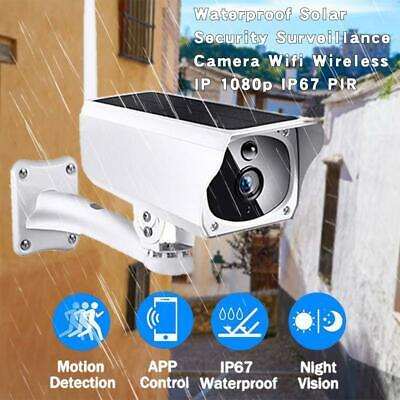 Waterproof Solar Security Surveillance Camera Wifi Wireless IP 1080p IP67 PIR