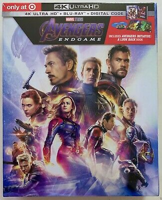 New Marvel Avengers Endgame 4K Ultra Hd Blu Ray Target Exclusive Digipack + Book