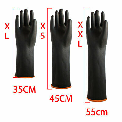 Latex Gauntlets Gauntlet Long Gloves Rubber PPE Industrial Anti Chemical 55CM