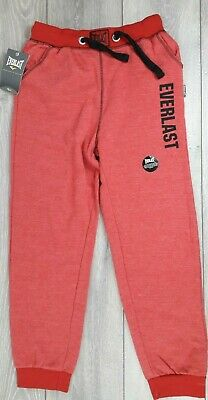Everlast Logo CH Jogger Junior Bottoms Trouser Pant 11 - 12 Yrs Red A253-1