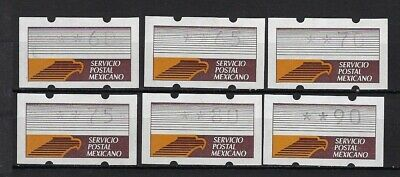Mexico Group Of 6 Klussendorfs All Different  Cv$+(A1971)