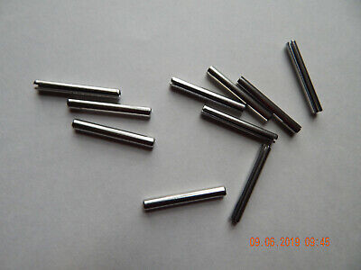 "STAINLESS STEEL ROLL PINS 3/16 x 1 1/2"" 18-8  10 PCS. NEW"