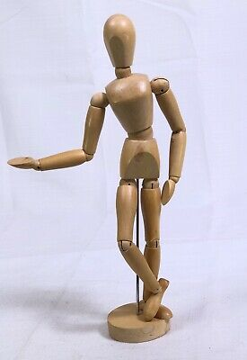 "Artist Mannequin 12-1/2"" Jointed Pose-able Wooden Doll For Sketching Drawing"