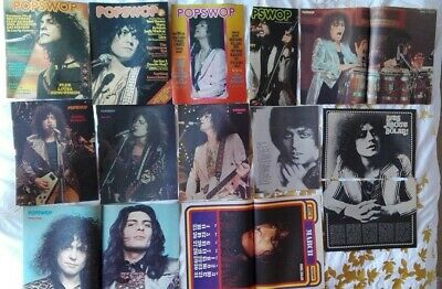 T.Rex Marc Bolan 16 pages of pin ups from POPSWOP magazine 1972/73