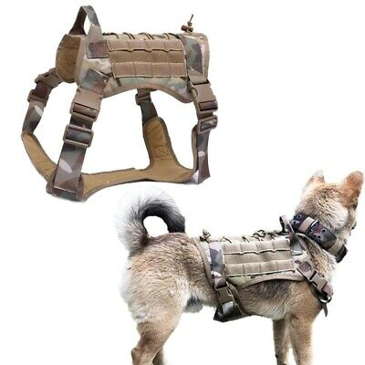 Heavy Duty Tactical Police k9 Dog Vest Harness Military Dog Harness with Handle