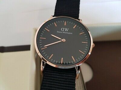 grossiste 26a6b ef81e DANIEL WELLINGTON CLASSIC watch Montre Femme noir et or 28mm DW