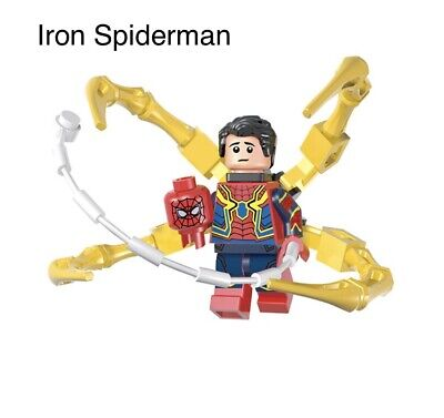 Iron Spider - Marvel Avengers End Game Spiderman Minifigure Lego Comp