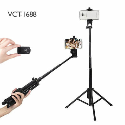2 in 1 Wireless Bluetooth Selfie Stick Universal Tripod Extendable Remote Camera