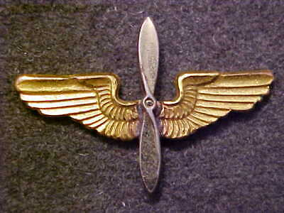 Rare Ww2 Us Army Air Corps Officer 1-1/8 Collar Wings Amcraft Snowflake