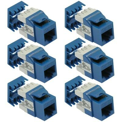 12x Cat5e RJ45 Cat 5e Keystone Inline Coupler Network Cable Joiner Connector