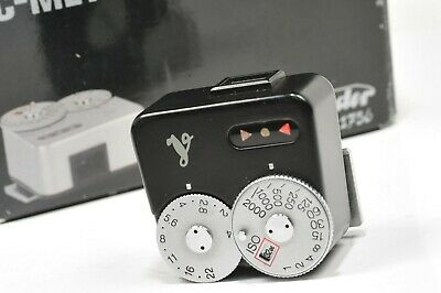 Genuine Voigtlander VC light meter, black version, tested, boxed, manual