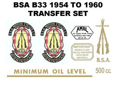 BSA Oil Level Oil Tank Classic Motorcycle Restoration Transfer Decal Gold